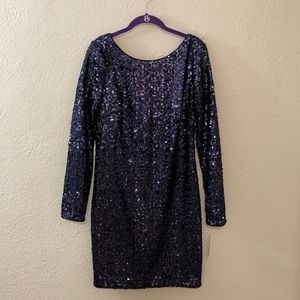Jessica Simpson Navy Sequin Cocktail Party Dress